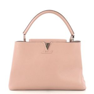 Louis Vuitton Capucines Handbag Leather MM